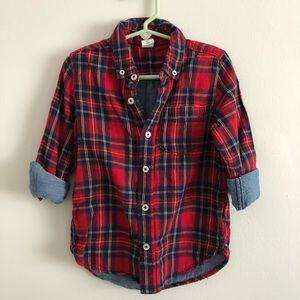 GAP Red Plaid Button Down Shirt